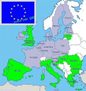 europakarte-europaeische-union